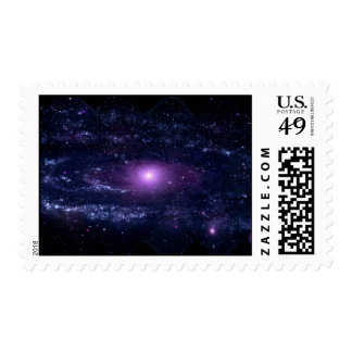 Ultraviolet Purple Andromeda Galaxy Space Postage