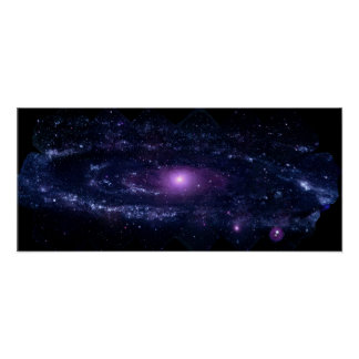 Ultraviolet Purple Andromeda Galaxy Space Poster