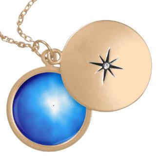 Ultraviolet Radiation From Hydrogen Atoms Round Locket Necklace