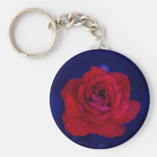 Ultraviolet Rose Keychain
