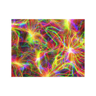 Ultraviolet Squiggly Background Canvas Print
