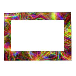 Ultraviolet Squiggly Background Magnetic Frame