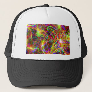Ultraviolet Squiggly Background Trucker Hat