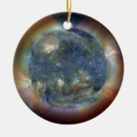 Ultraviolet Sun Christmas Tree Ornaments