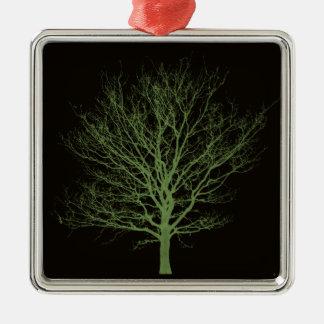 Ultraviolet Tree Metal Ornament