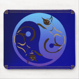 Ultraviolet Yin Yang Mousepad