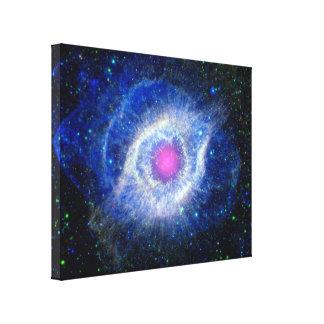 Ultravioleta de la nebulosa de la hélice impresiones en lona