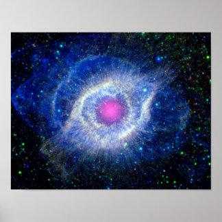 Ultravioleta de la nebulosa de la hélice posters