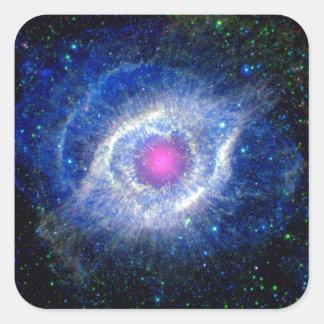 Ultravioleta de la nebulosa de la hélice pegatina cuadrada
