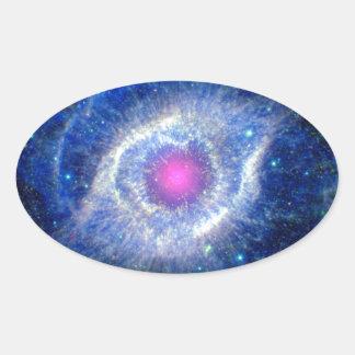 Ultravioleta de la nebulosa de la hélice pegatina ovalada