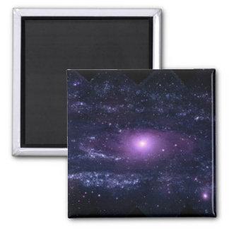 Ultravioleta del Andromeda Imán Cuadrado