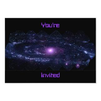 """Ultravioleta del Andromeda Invitación 5"""" X 7"""""""