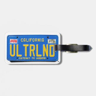 ULTRLND: CA 1974 Blue License Plate Bag Tag