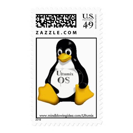 Ultumix Linux TUX Postage Stamps