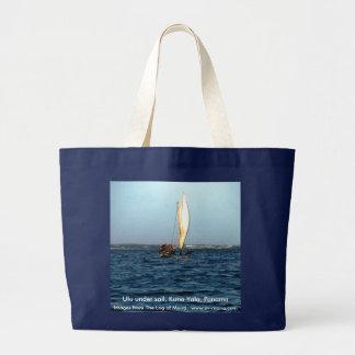 Ulu under sail, Kuna Yala, Panama Large Tote Bag
