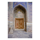 Ulug'bek Madrasah: Ornate Portal Print