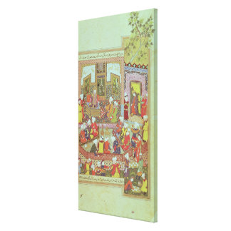 Ulugh Beg  dispensing justice at Khurasan Canvas Print