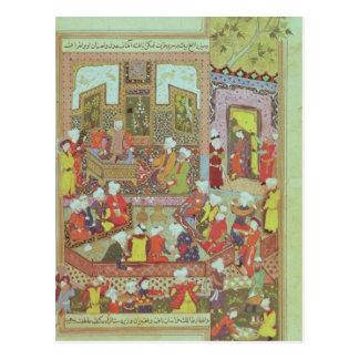 Ulugh Beg  dispensing justice at Khurasan Postcard