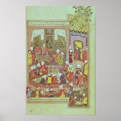 Ulugh Beg  dispensing justice at Khurasan Print