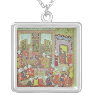 Ulugh Beg  dispensing justice at Khurasan Silver Plated Necklace