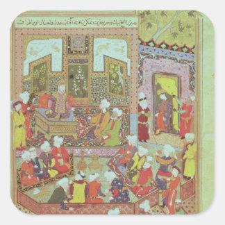 Ulugh Beg  dispensing justice at Khurasan Square Sticker