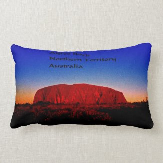 Uluru, Aboriginal Sacred Site Lumbar Pillow