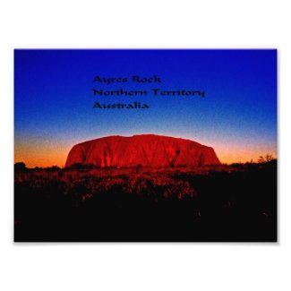 Uluru, Aboriginal Sacred Site Photo Print