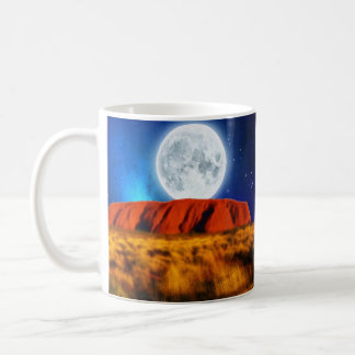 ULURU Ayer's Rock Australian Outback Art Coffee Mug