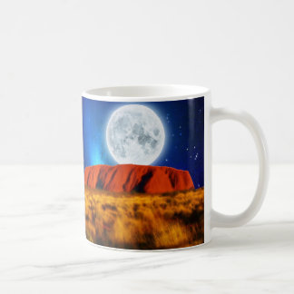 ULURU Ayer's Rock Australian Outback Art Classic White Coffee Mug