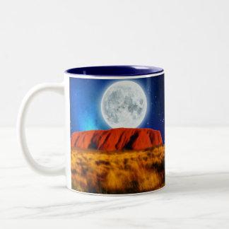 ULURU Ayer's Rock Australian Outback Art Two-Tone Coffee Mug