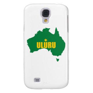 Uluru Green and Gold Map Samsung Galaxy S4 Case