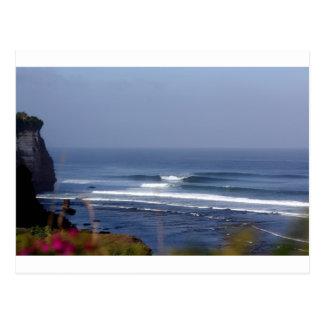 Uluwatu Bali famous surfing wave Postcard