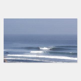 Uluwatu Bali famous surfing wave Rectangular Sticker
