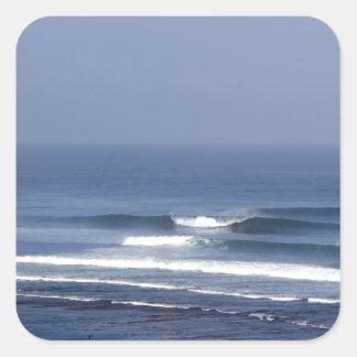 Uluwatu Bali famous surfing wave Square Sticker