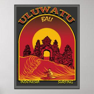 Uluwatu Bali Indonesia Surfbreak Impresiones