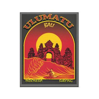 Uluwatu Bali Indonesia Surfing Canvas Print