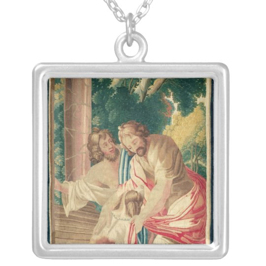 Ulysses accompanied by Telemachus Silver Plated Necklace