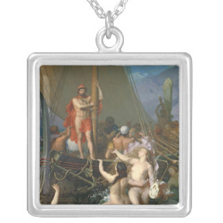 Ulysses and the Sirens 2 Silver Plated Necklace