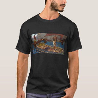 Ulysses and the Sirens Art by Waterhouse T-Shirt