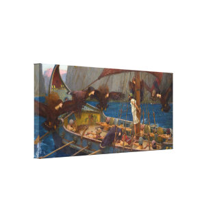 Ulysses and the Sirens by J.W. Waterhouse Canvas Print