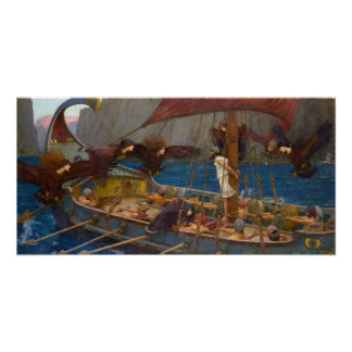 Ulysses and the Sirens by J.W. Waterhouse Posters