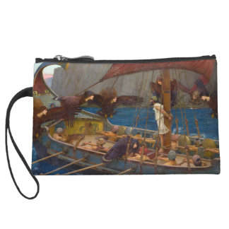 Ulysses and the Sirens by John William Waterhouse Wristlet Purse