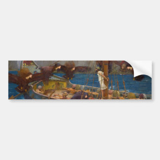 Ulysses and the Sirens by John William Waterhouse Bumper Sticker