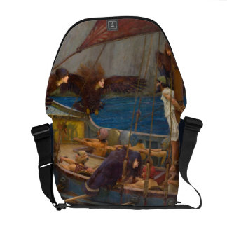 Ulysses and the Sirens by John William Waterhouse Courier Bag