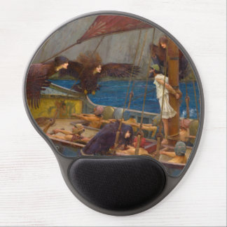 Ulysses and the Sirens by John William Waterhouse Gel Mousepads
