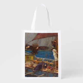 Ulysses and the Sirens by John William Waterhouse Grocery Bag