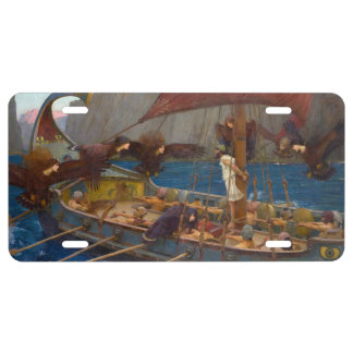 Ulysses and the Sirens by John William Waterhouse License Plate