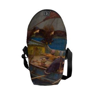 Ulysses and the Sirens by John William Waterhouse Messenger Bag