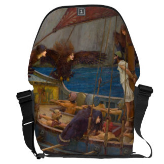 Ulysses and the Sirens by John William Waterhouse Messenger Bags