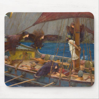 Ulysses and the Sirens by John William Waterhouse Mousepads